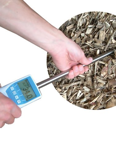 Humimeter BLL Wood Chip Moisture Meter with Insertion Probe